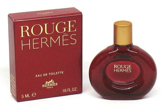 ROUGE HERMES - EAU DE TOILETTE 5 ML - MINIATURE EN VERRE TEINTE ROUGE