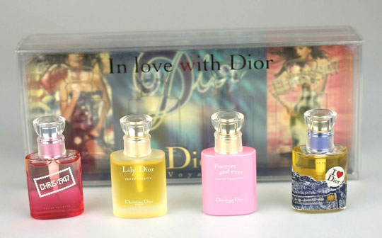 "VARIANTE DU COFFRET ""IN LOVE WITH DIOR"" CONTENANT 4 MINIATURES EDITION LIMITEE"