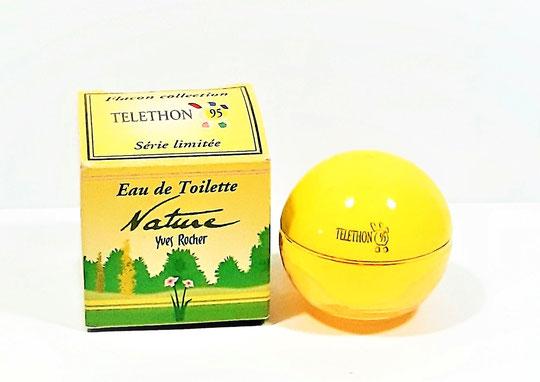 NATURE - EAU DE TOILETTE SERIE  LIMITEE SPECIALE TELETHON :  FLACON BOULE