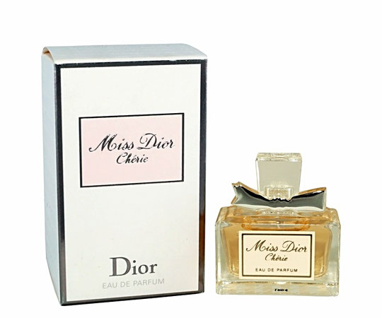 2011 - MISS DIOR CHERIE - MINIATURE EAU DE PARFUM AVEC ETIQUETTE ROSE : IDENTIQUE A CELLE DE LA PHOTO PRECEDENTE