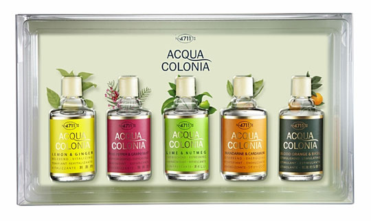 4711 - ACQUA COLONIA : COFFRET DE 5 MINIATURES DIFFERENTES