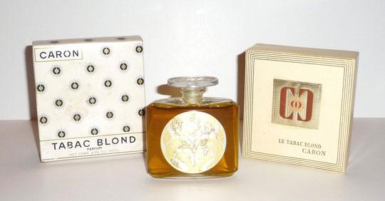 1919 - LE TABAC BLOND SOUS DOUBLE BOÎTE - FLACON EN CRISTAL INCOLORE DE BACCARAT