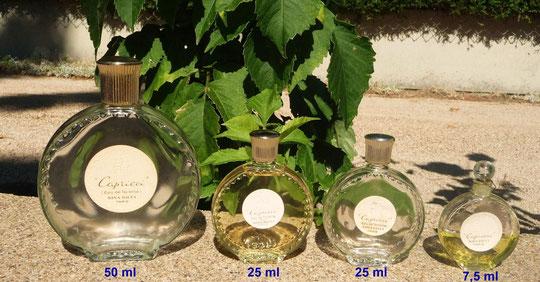 CAPRICCI : 5 FLACONS MONTRE  CREATION LALIQUE - EAU DE TOILETTE & PARFUM POUR LE FLACON DE 7,5 ML