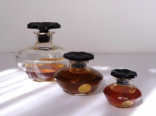 1911 - LE NARCISSE NOIR PARFUM - SERIE DE 3 FLACONS EN CRISTAL - CREATION JULIEN VIARD