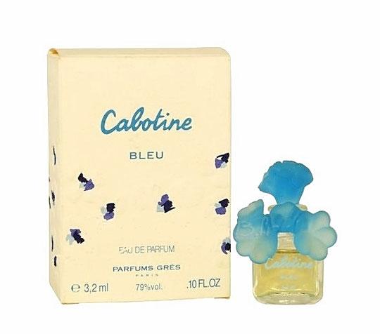 CABOTINE BLEU - EAU DE PARFUM 3,2 ML - BOUCHON PLASTIQUE BLEU CIEL