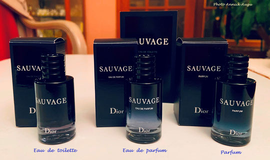 SAUVAGE - LES 3 VERSIONS EXISTANT POUR CETTE FRAGRANCE
