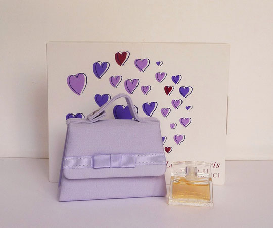 LOVE IN PARIS : PETIT SAC A MAIN MAUVE ET MINIATURE