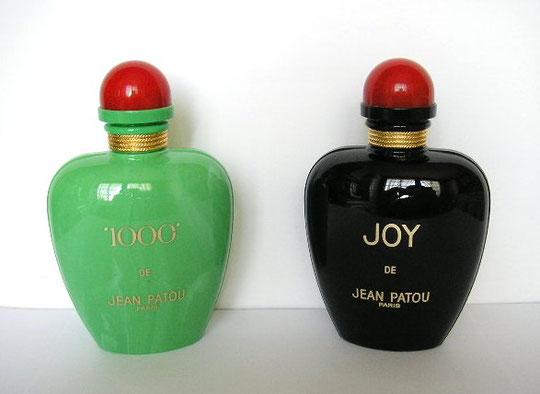 """""""1000""""  & JOY : FLACONS EN PLASTIQUE RECHARGEABLES - CES FLACONS S'OUVRENT DE PART ET D'AUTRE"""