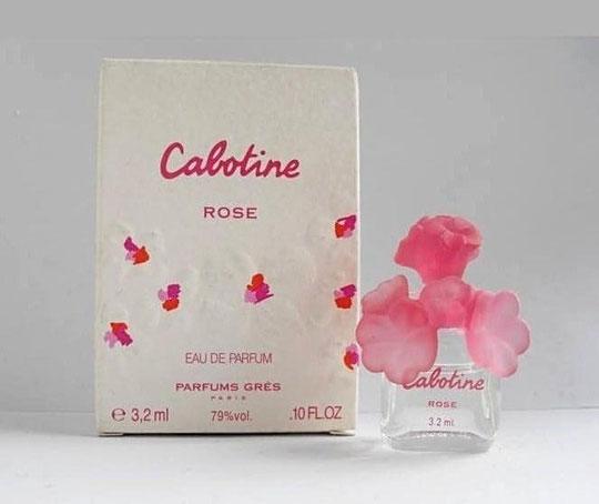 CABOTINE ROSE - EAU DE PARFUM 3,2 ML, BOUCHON FLEUR EN PLASTIQUE ROSE
