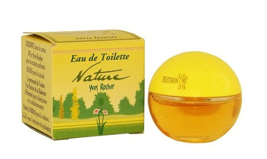 """NATURE - EAU DE TOILETTE : SERIE DES FLACONS """"BOULE"""" - SPECIAL TELETHON"""