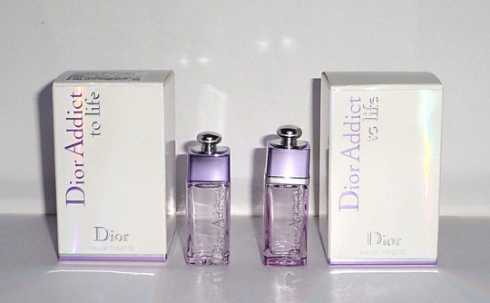 2012 - DIOR ADDICT TO LIFE : 2 PRESENTATIONS DIFFERENTES DE LA MINIATURE : EAU DE TOILETTE - PROVENANCE ASIE