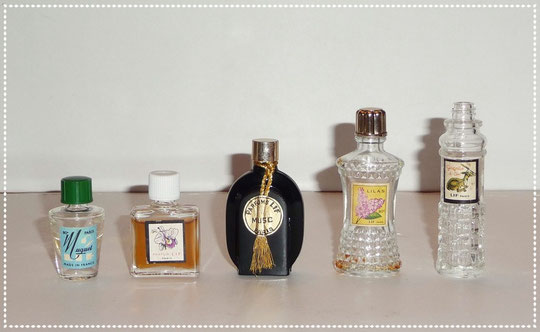 LIF PARFUMS : 5 MINIATURES DIFFERENTES