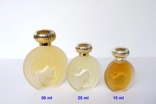 NINA - 1ère VERSION : 3 FLACONS VAPORISATEURS EAU DE TOILETTE - FABRICATION LALIQUE