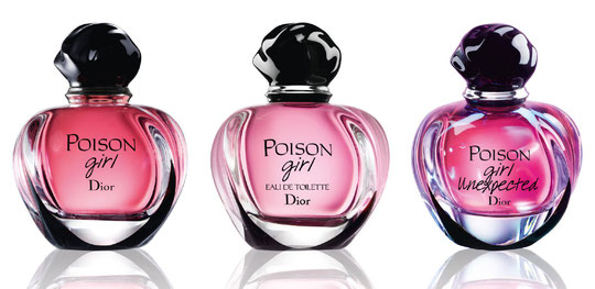 POISON GIRL : LES 3 VERSIONS : POISON GIRL EAU DE PARFUM, POISON GIRL EAU DE TOILETTE ET POISON GIRL UNEXPECTED (PAS ENCORE SORTI)