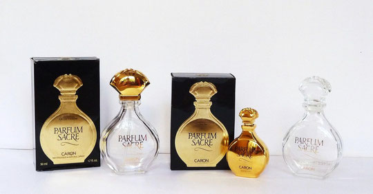 1990 : PARFUM SACRE - SERIE DE 3 FLACONS DIFFERENTS