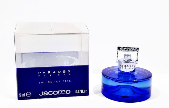 JACOMO - PARADOX FOR MEN : EAU DE TOILETTE FOR MEN 5 ML, PRESENTATION DIFFERENTE AU NIVEAU DE LA BOÎTE EN PLASTIQUE