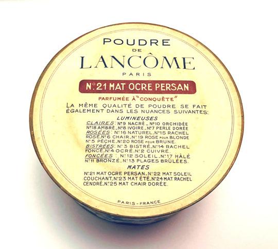 """LANCÔME - POUDRE PARFUMEE A """"CONQUÊTE"""" : N° 21 MAT OCRE PERSAN"""
