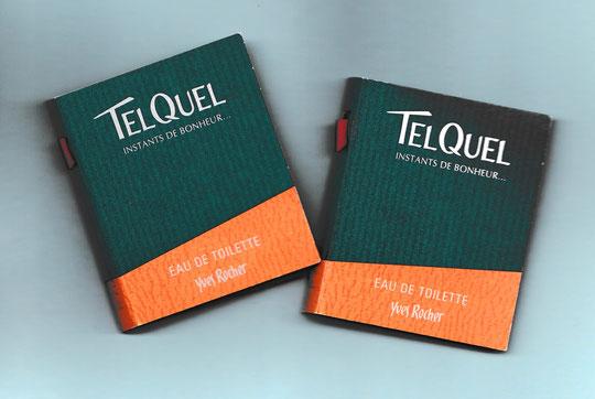 TEL QUEL - DEUX ECHANTILLONS-TUBE EAU DE TOILETTE