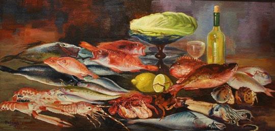 bodegón de pesca