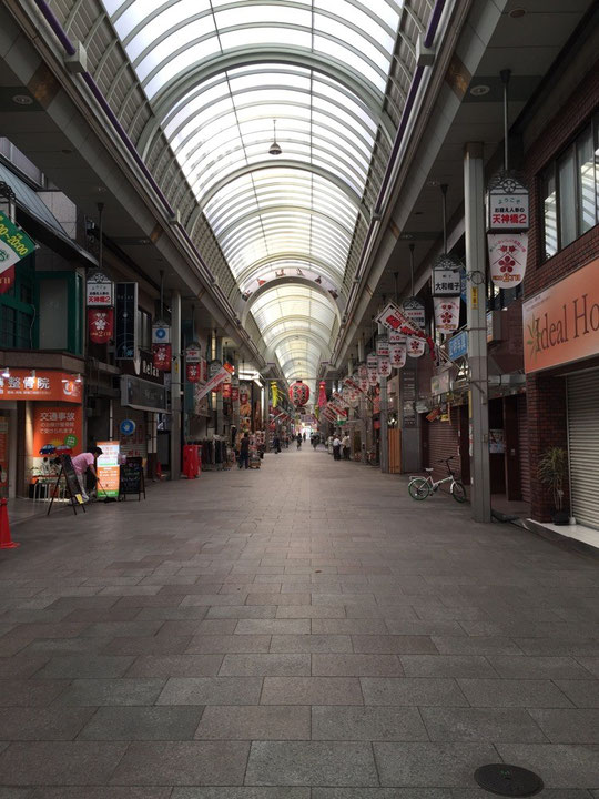 日本一の長さを持つ天神橋筋商店街 ここならモーニングもある気がする!