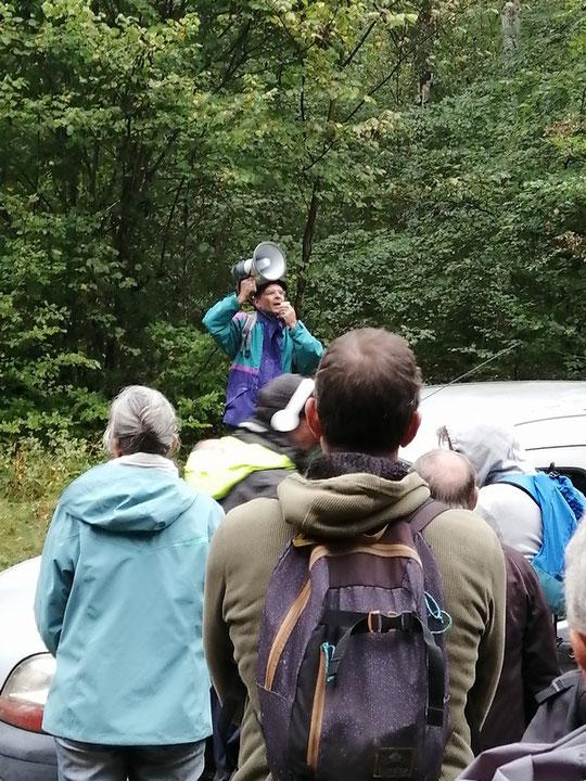 """L'un des fondateurs du Collectif """"Touche pas à ma Forêt"""" fournit des explications. 6 septembre 2020 en forêt pour la marche contre projet Florian"""