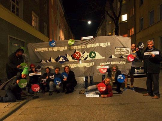 Mobiliseringskampagne i München mod g7 topmødet