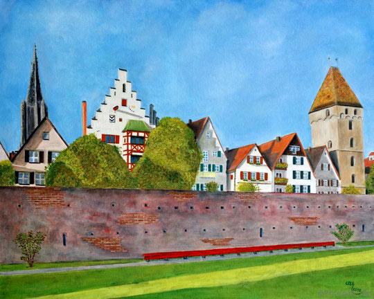Ulm, 100 x 80 cm, Öl auf Leinwand