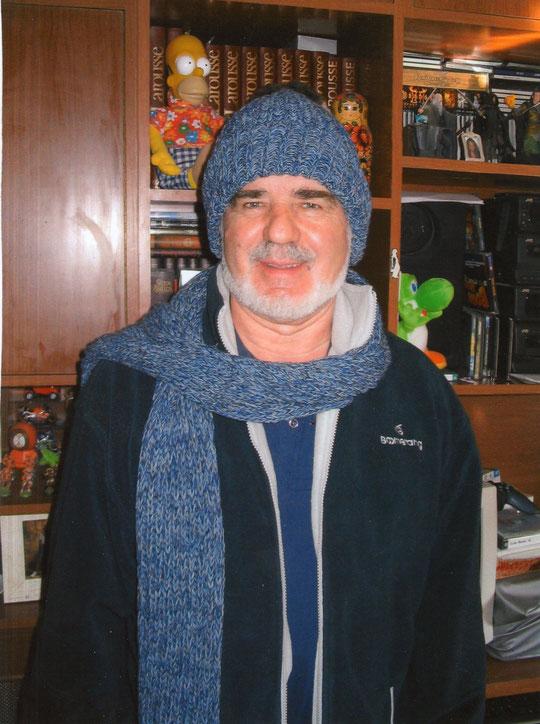 Pedro muy abrigado. Invierno del 2011. F. Merche.