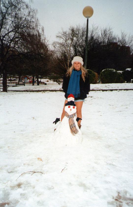 En la tarde realizamos un muñeco de nieve.