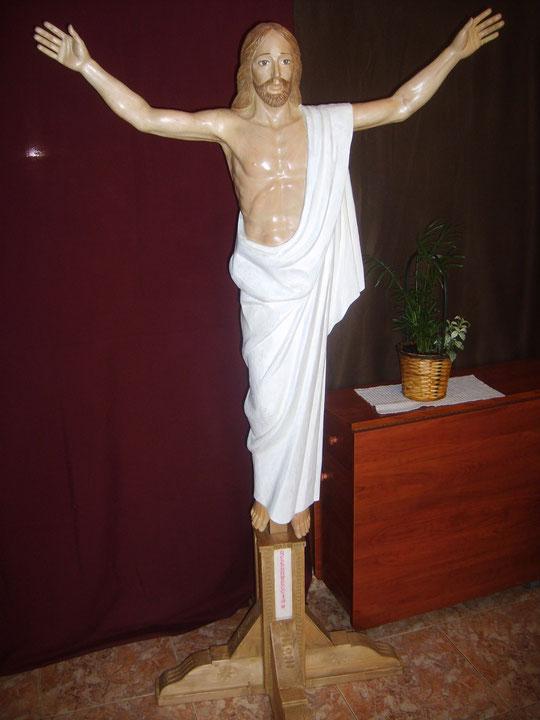 Imagen tallada por Pedro y donada por él a su pueblo. Julio 2012.