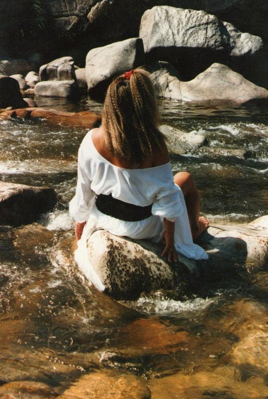 Disfrutando del río............... F. Pedro. P. Privada.