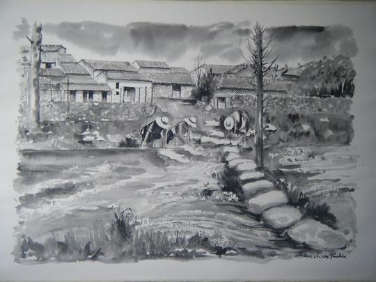 """""""Lavanderas en el río Valbanera """""""