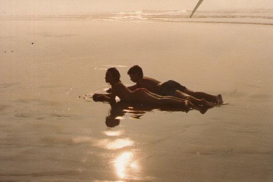 La arena como un espejo.