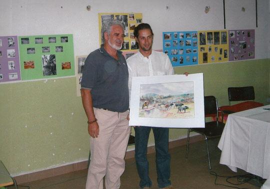 Pedro con Juan Diego. F. Merche.