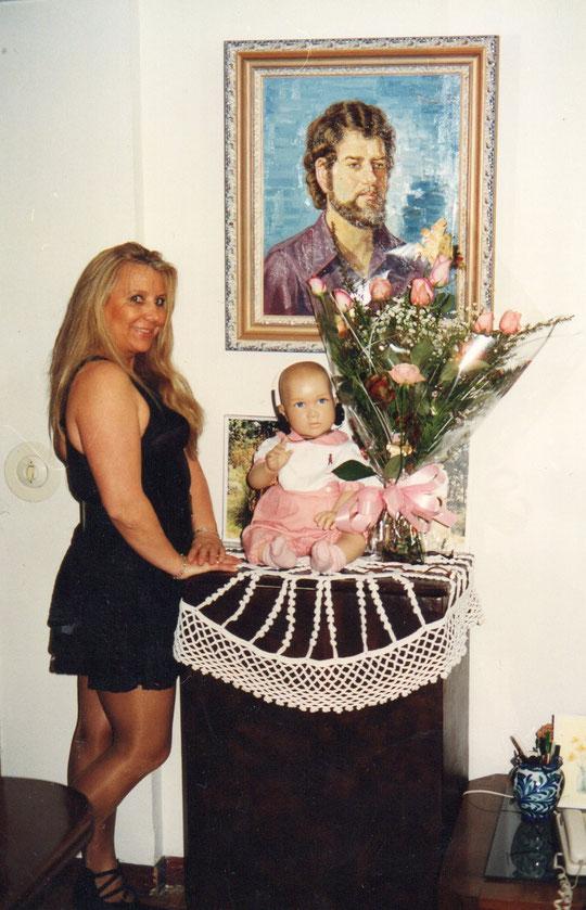 Retrato de Pedro y.......... ramo por aniversario de boda.