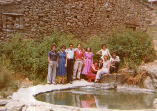 La primitiva poza de lavar. F. Cedida.