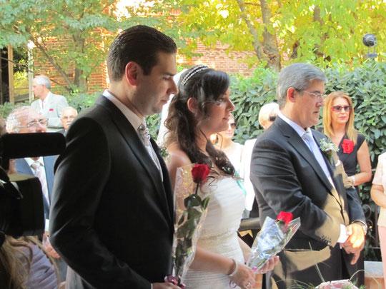 Fin de la ceremonia de las rosas.