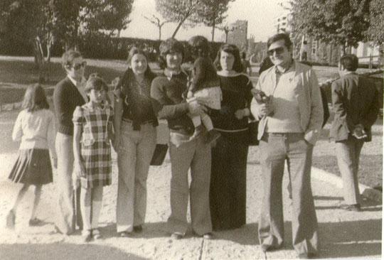 En Valladolid con amigos.