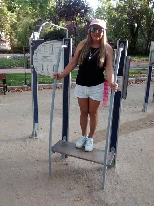 Posado en el parque.