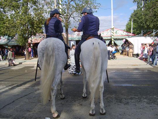 Y............ hasta la poli lo pasa bien en la feria, además de lucir hermosos caballos.