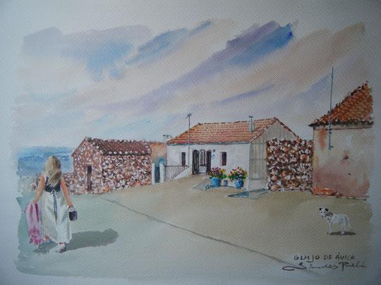 """"""" Casa en el Guijo """" ( Acuarela )"""