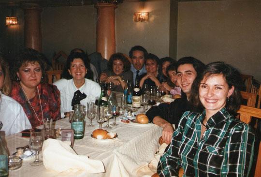 Cena de Navidad con los compañeros.