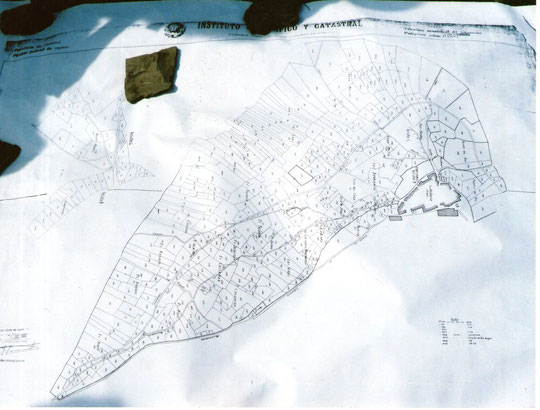 Mapa catastral de Cabaloria. Propiedad privada.