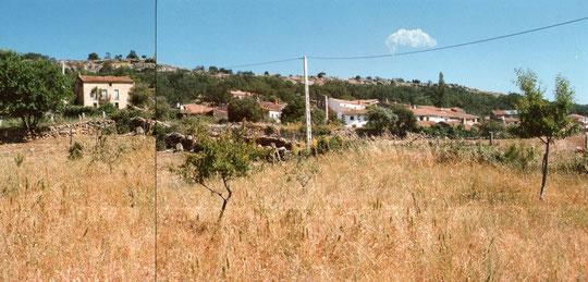 En esta se ve la casa de tio Mariano. La Puebla 3.. Foto de Merche. P. Privada.