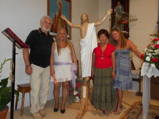 Donación de Cristo resucitado  obra de SÁNCHEZ PUEBLA a la iglesia de Puebla de San Medel. Año 2012.