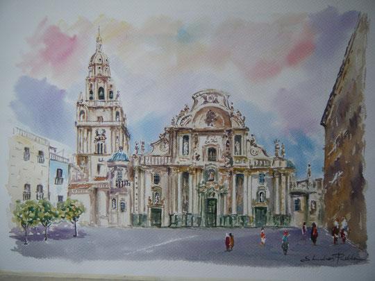 """  Catedral de Murcia "" ( Acuarela )"
