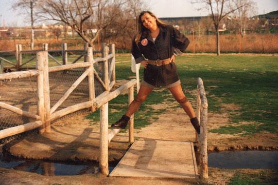 En el puente.