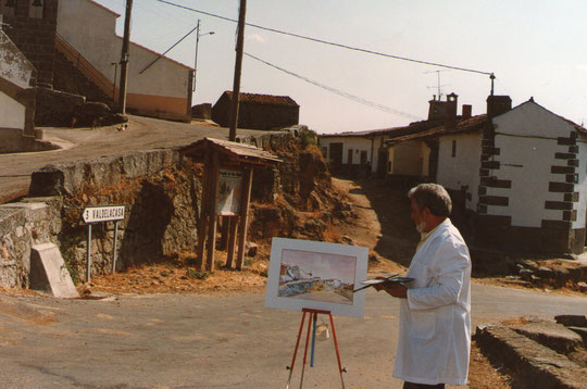 Pedro pinta la Puebla. F. Merche. P. Privada.