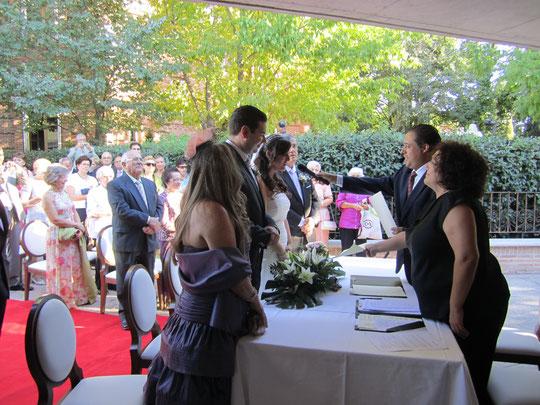 Durante la ceremonia.