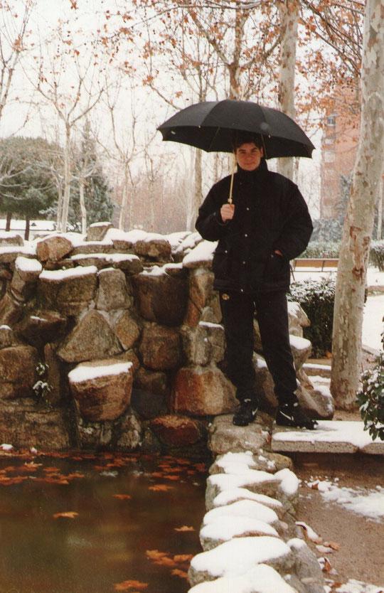 Preciosa nevada en Madrid. F. Pedro. P. Privada.